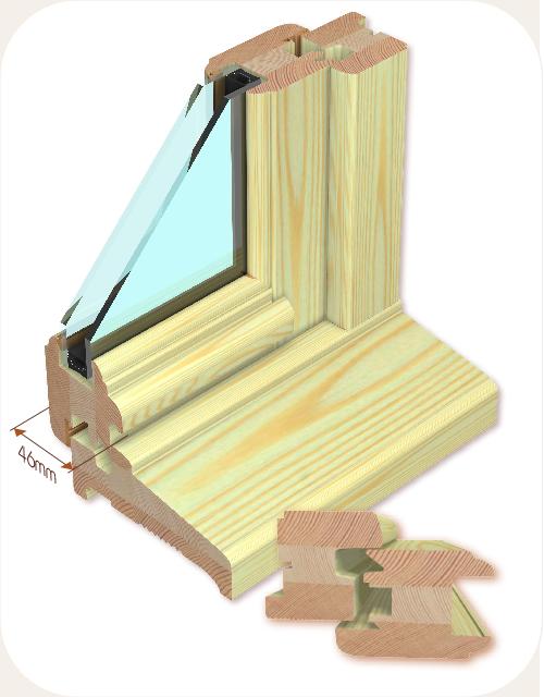 AVM Menuiseries et fenêtres bois 46mm
