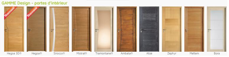Portes int rieur en bois fabrication fran aise choisissez la qualit - Porte interieur moderne ...