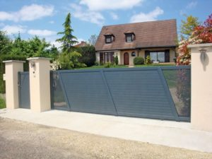 Portail moderne contemporain design PVC acier oise aisne somme