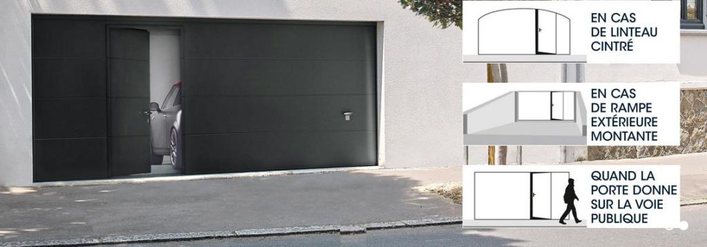 porte de garage sectionnelle isolée avec porte incorporé oise aisne somme