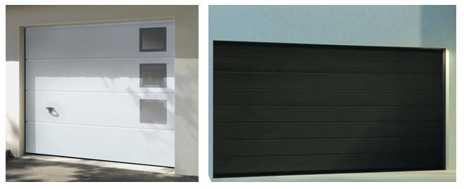 Vente et pose porte de garage en bois pvc et alu oise aisne somme - Porte garage isolee ...