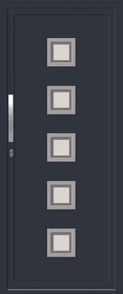 porte d'entree aluminium elysee LIMA_5_V7Uni_Bordure_RAL_7016_I